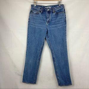 LANDS END high rise straight leg jeans Sz 8